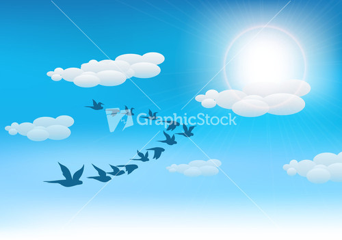 Vector Vintage Background With Birds