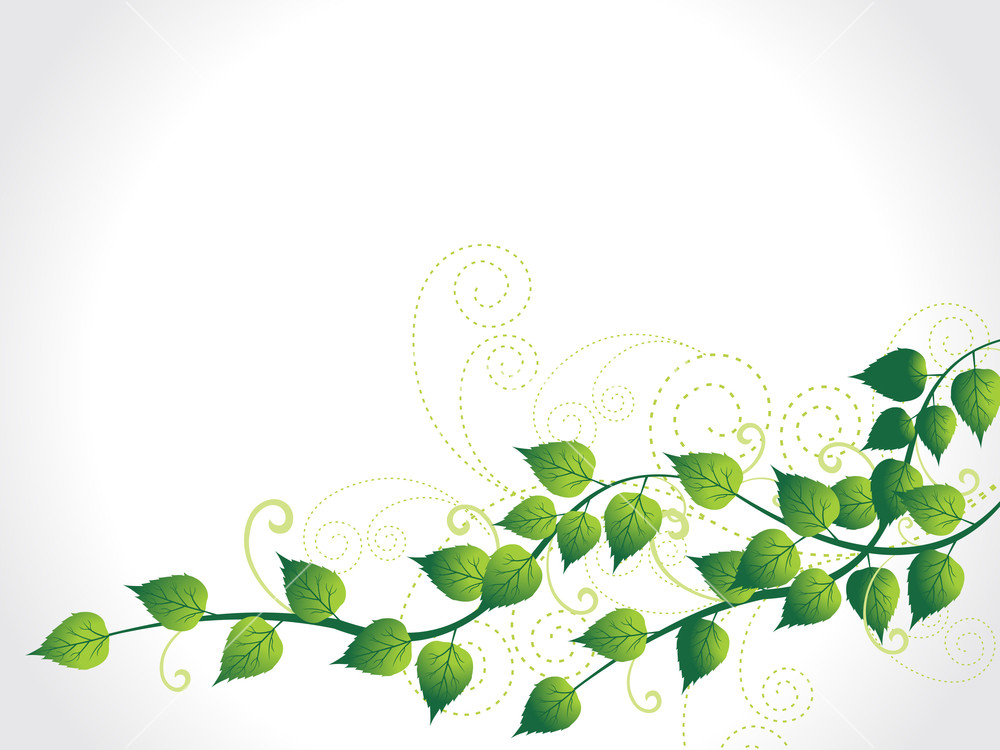 Vector Green Nature Background Stock Image