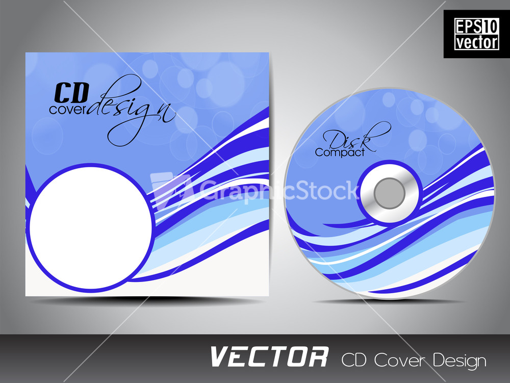 Vector Illustration Of Cd Cover Design Template Image – Compact Cd Envelope Template