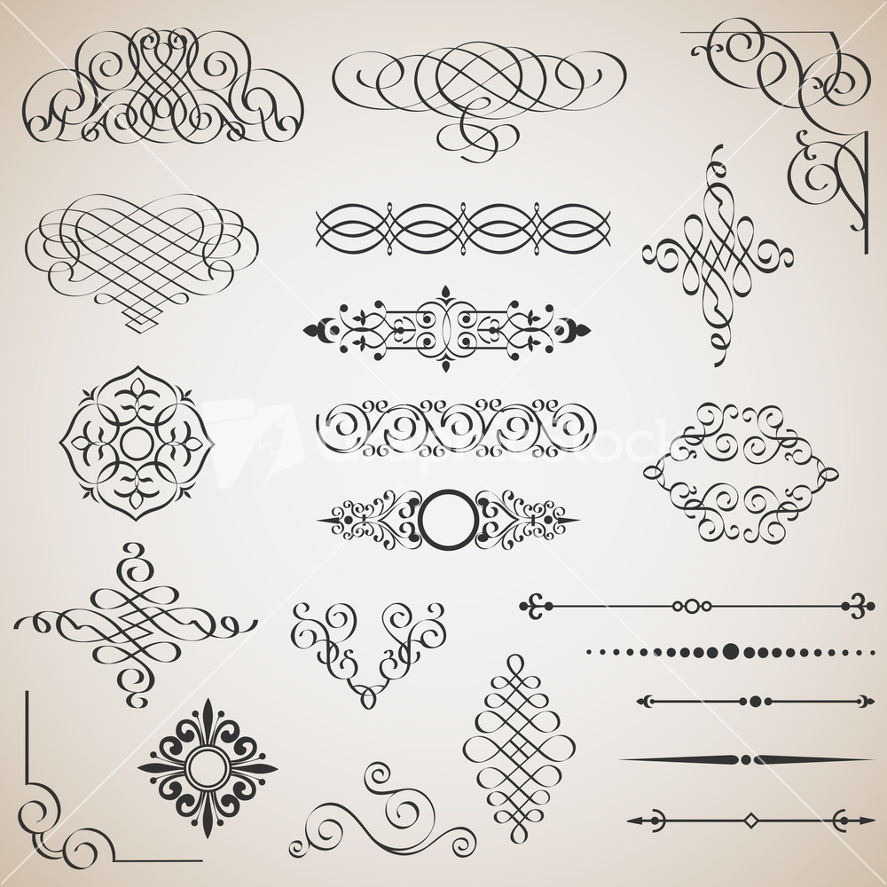 Royalty-Free Free Calligraphic Design Vector Elements ...