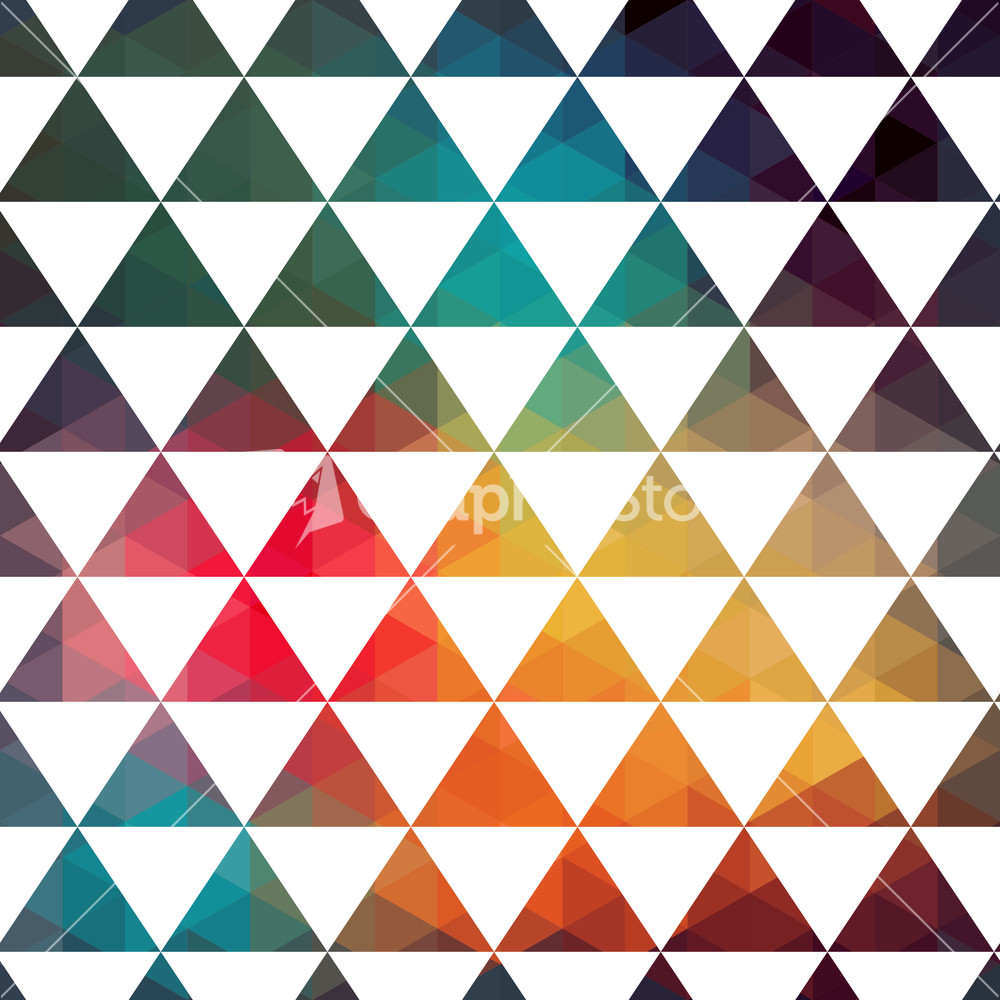 Vector Triangles Pattern. Modern Hipster Pattern. Colorful ...