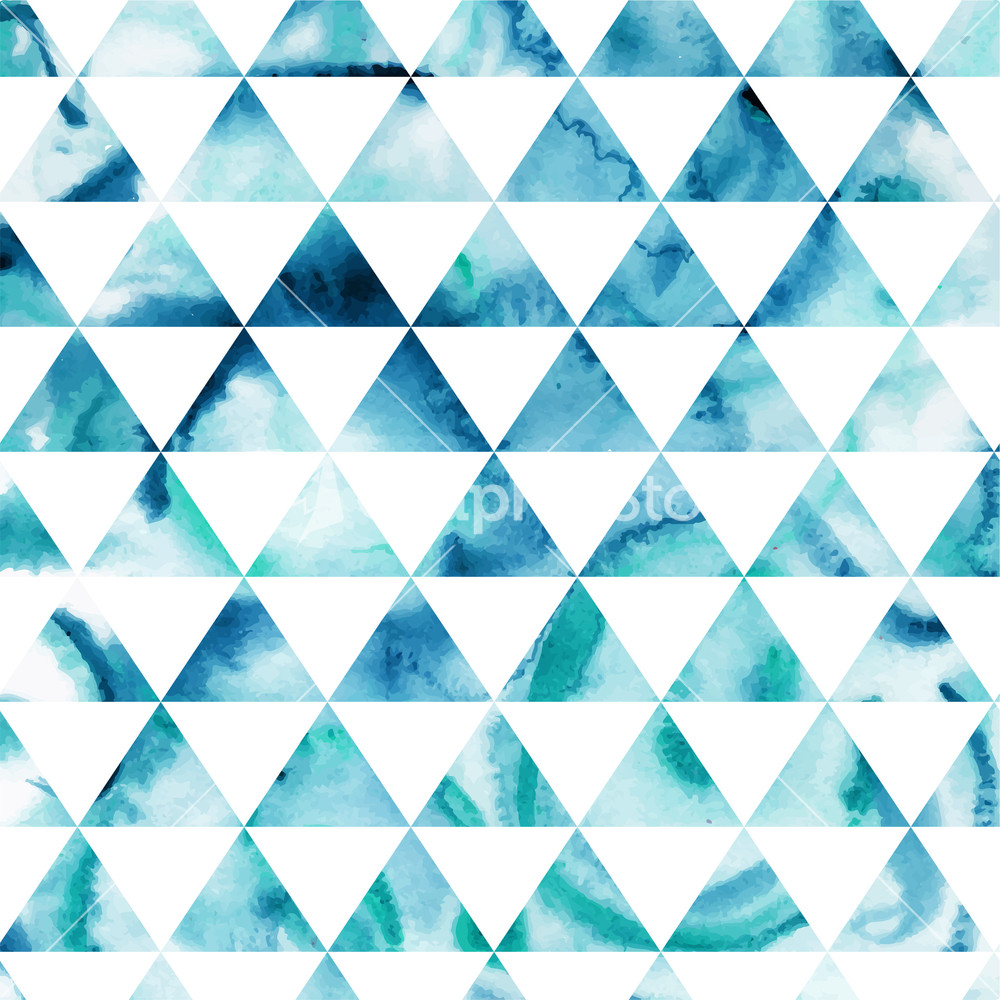 vector watercolor triangles pattern modern hipster