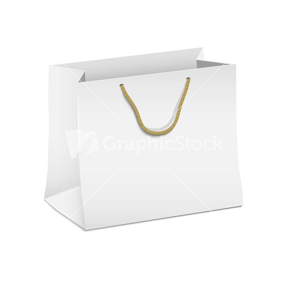 Paper bag vector - Vector White Shopping Paper Bag