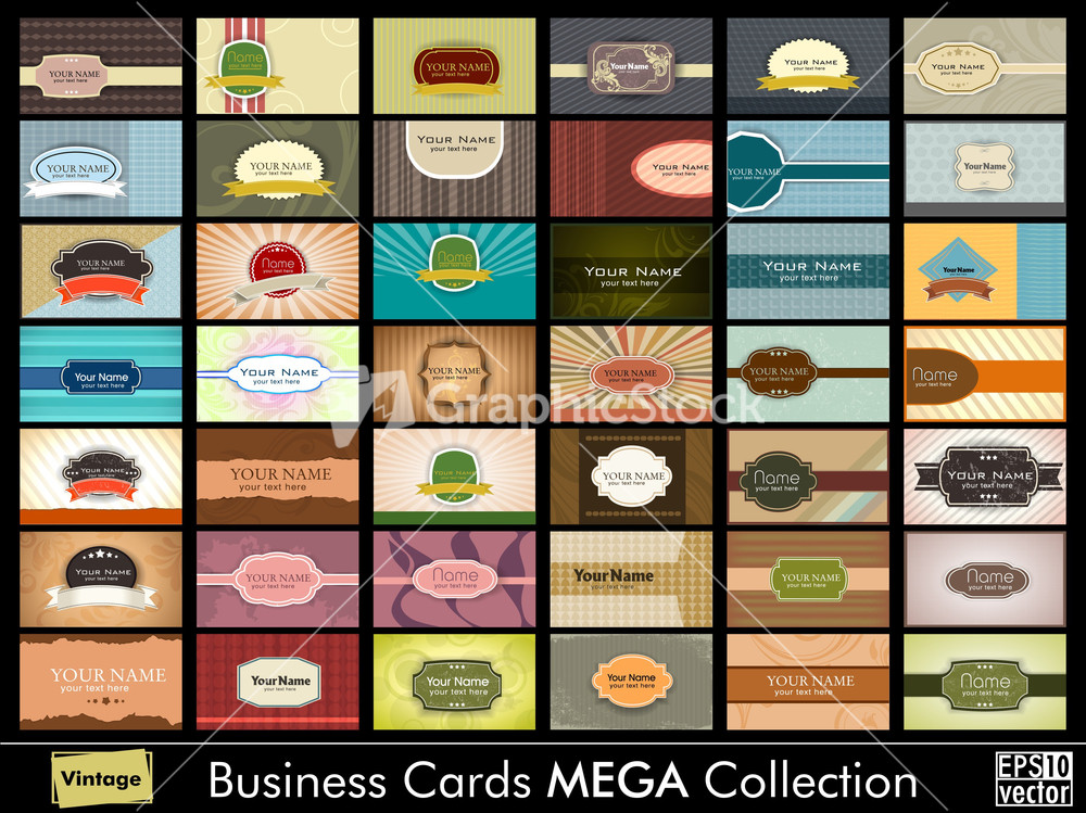 Vintage business card mega collection for Business card collection
