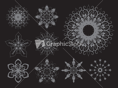 Vintage Snowflakes 105