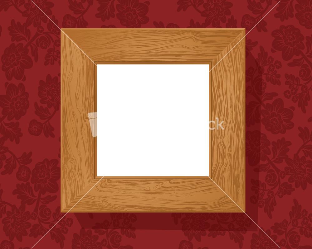 Vintage Wood Frame : Vintage Wooden Frame. Vector. Stock Image