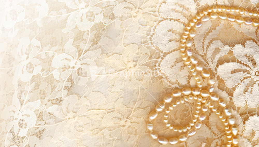 Wedding Background With Cream Silky Decoration Accessories Stock Image