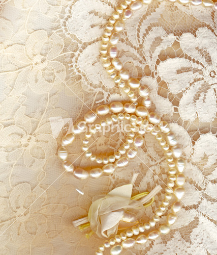 Lace And Pearls Wedding Background  shutterstockcom