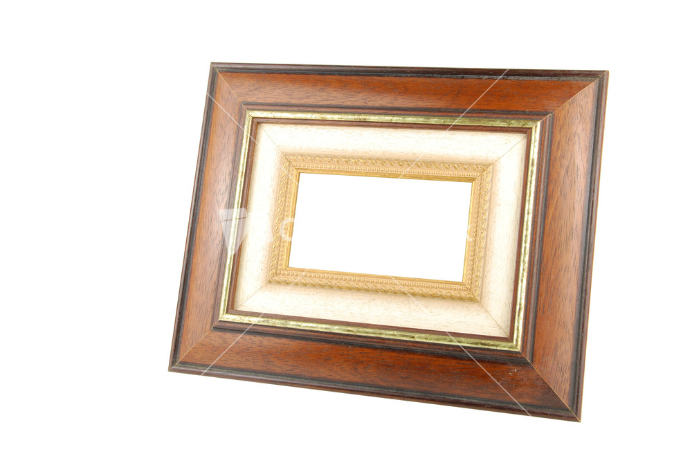 White Wood Frame : Wooden Photo-frame On White Stock Image
