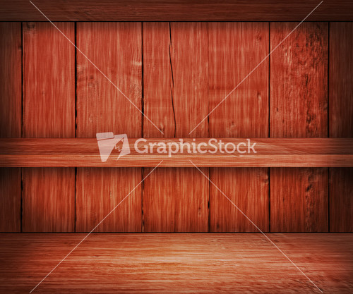 Wooden Shelf Background
