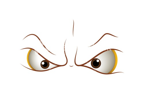 angry cartoon eyes stock image