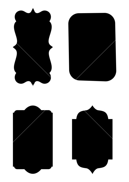 Label Shapes Vector Stock Image