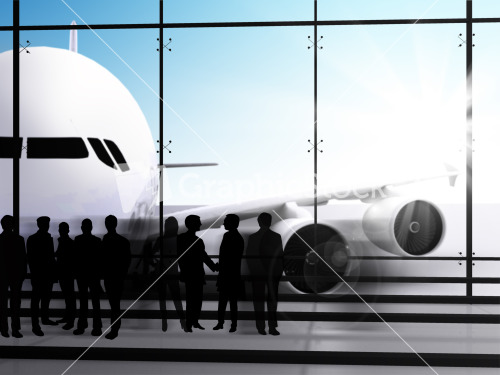 Business People Waiting For The Flight Stock Image