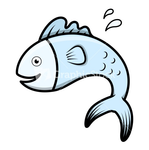 Cute Cartoon Fish Vector Stock Image
