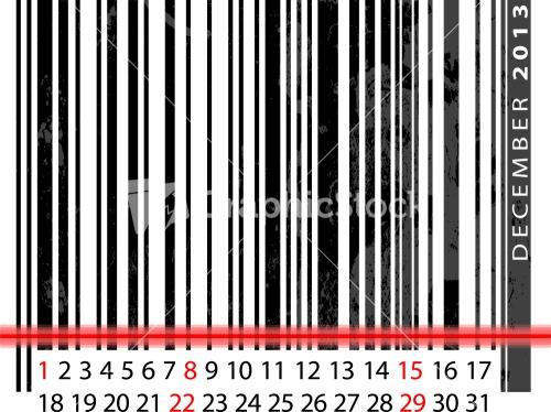 December 2013 Calendar Stock Image