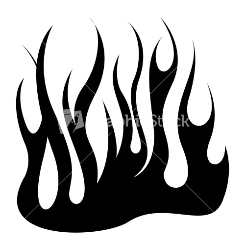 Fire Black Shape