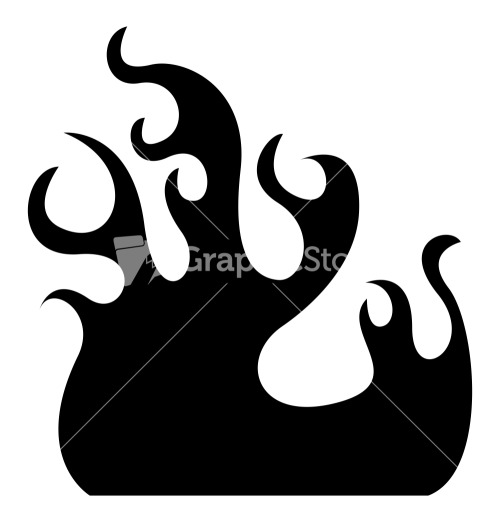 Fire Flame Vector Silhouette