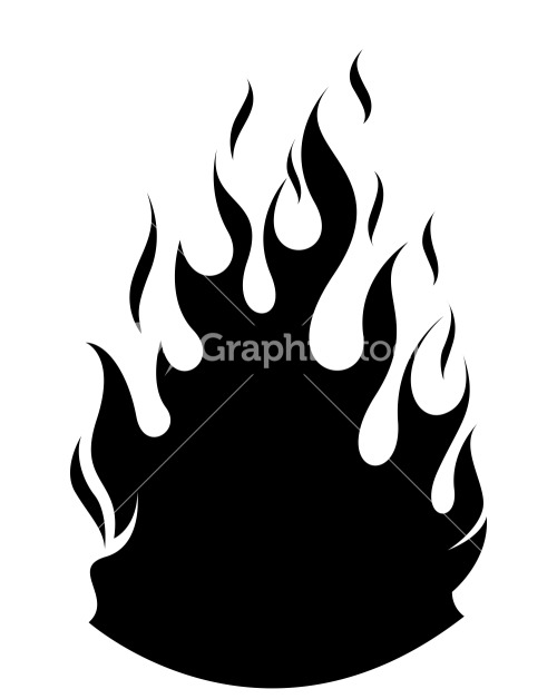 Fire Flame Silhouettes Vector