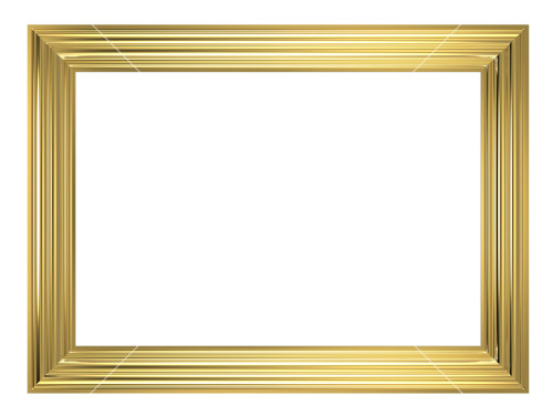 Gold Frame Isolated On White Background Stock Image