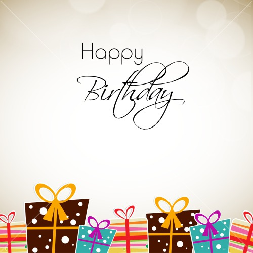 Greeting Card Or Background For Birthday Celebration Stock
