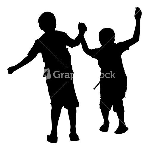 children playing silhouette - photo #32