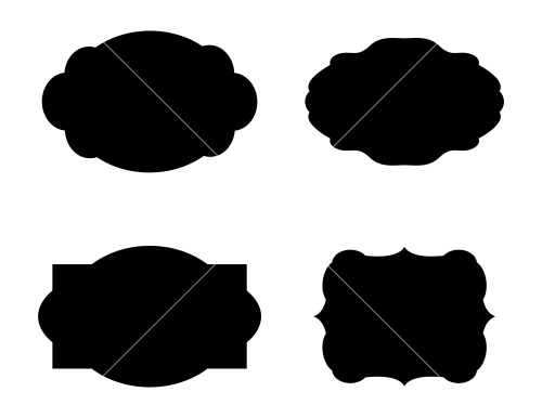 Labels Shapes Vector Designs Stock Image