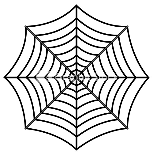 Spider Web Design Vector Stock Image
