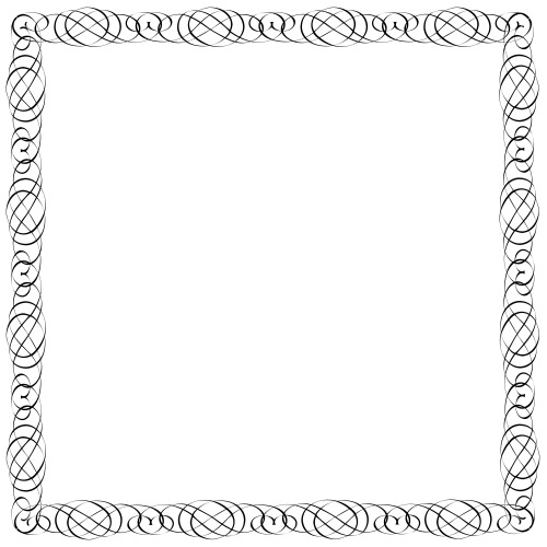 Simple calligraphic frame for design stock image