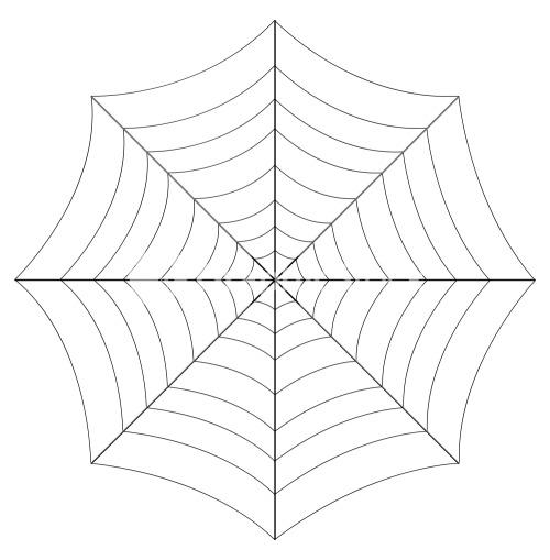 Line Art Web Design : Spider web vector