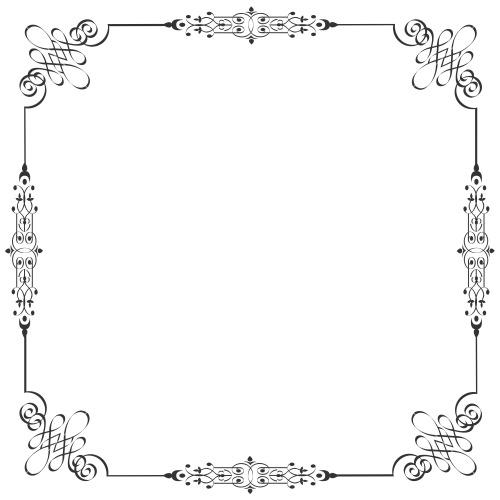 Vector Frame In Vintag...