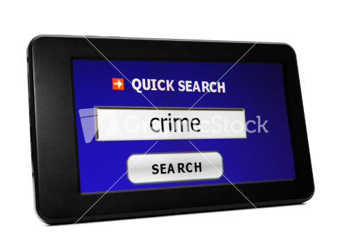 Web Search For Crime Stock Image