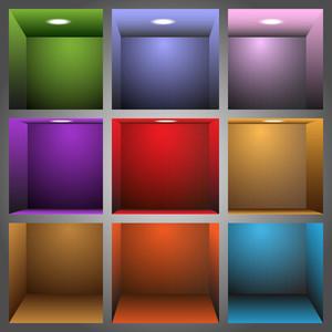 3d ripiani colorati