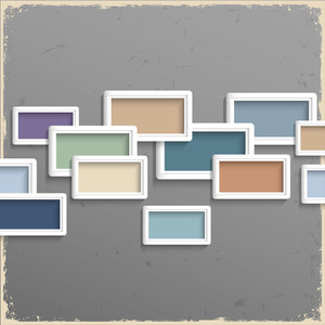 3d Frames On Grunge Background