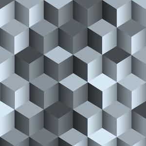 キューブで3Dモノクロの背景