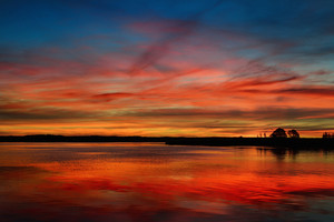 Colorful Sunrise On A Lake