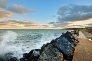 ノルマンディーではD-日の海岸線