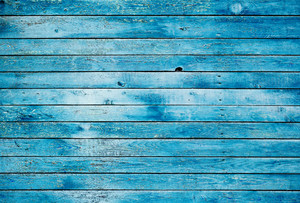Blue dirty wooden wall