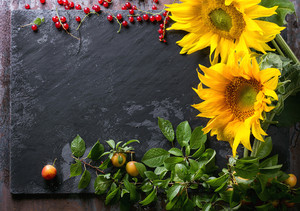Sunflowers With Berries
