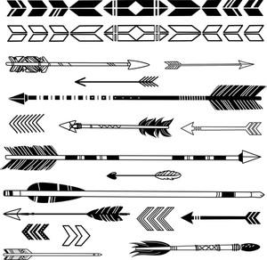 Una serie di frecce Hipster Carino