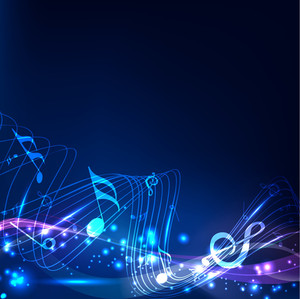 Abstract Background Musical Notes