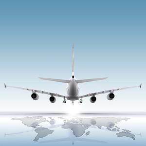 地球上で航空機の着陸