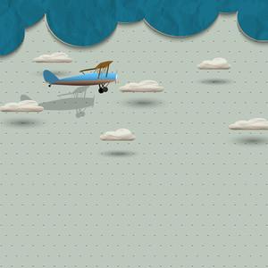 紙飛行機と雲