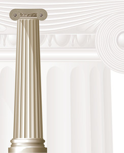 Ancient Column. Vector.