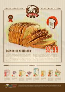 ベーカリー広告デザインテンプレート