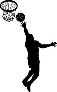 バスケットボール選手レイアップボールシールド