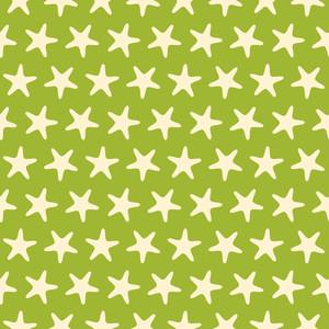 Green Starfish Beach Pattern
