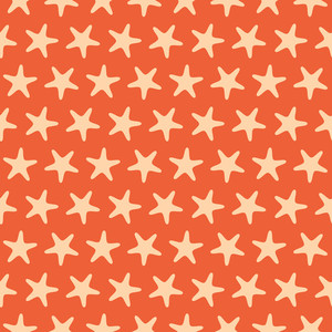 Orange Starfish Beach Pattern