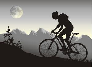 バイカーで自転車