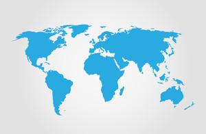 BLUE Map vettore mondiale