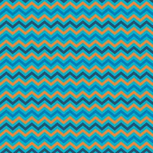 오렌지와 블루 셰브론 패턴